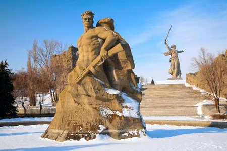 volgograd: monument to Russian soldiers in Volgograd