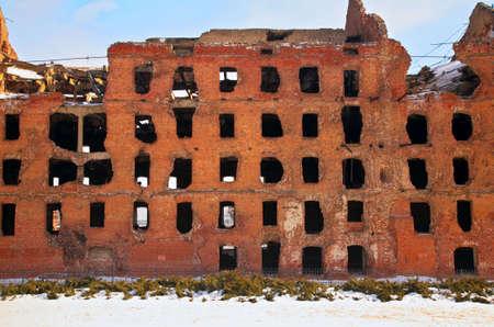 volgograd: ruin after war in Volgograd Stock Photo