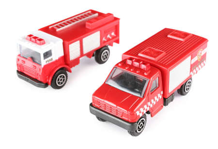 Two toy fire machines photo