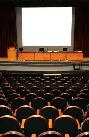 conference hall: empty auditorium