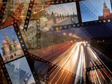 film travel photo collage moscow Stock Photo - 5105322