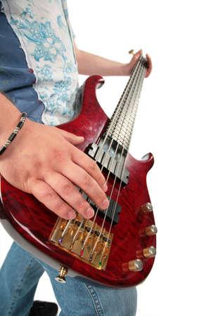 Guitar in hands photo
