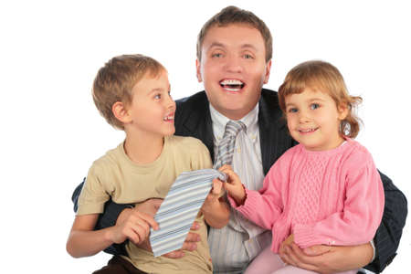 happy businessman with children Stock Photo - 5134752