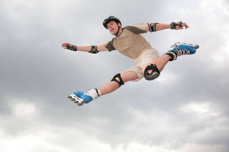 Roller jumping photo