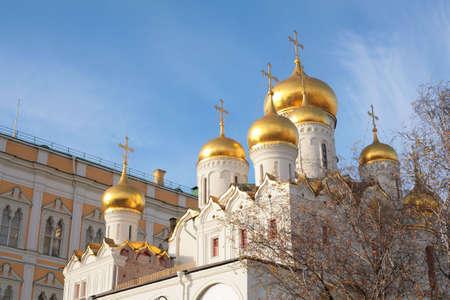 the kremlin: church moscow kremlin Stock Photo