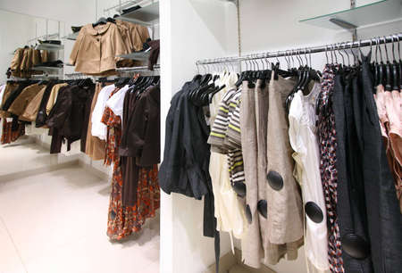 Clothes on rack in mall Stock Photo - 5107722