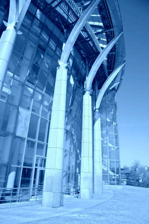 blue building. Moscow House of Music photo