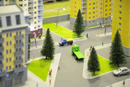 City miniature Stock Photo