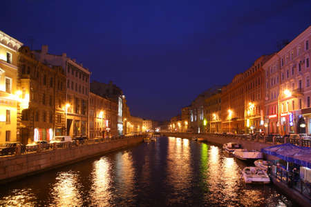 Channel in St.Petersburg in dusk Stock Photo - 5107683