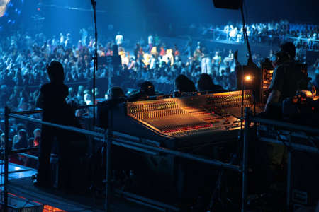 limelight: mixer on concert Stock Photo