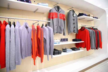 Clothes in store photo