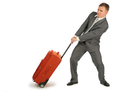 businessman with baggage Stock Photo