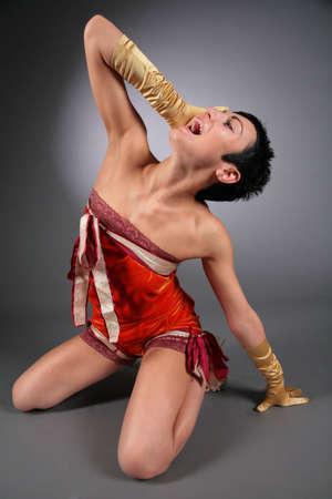 extase: dansen huilen vrouw in extase Stockfoto