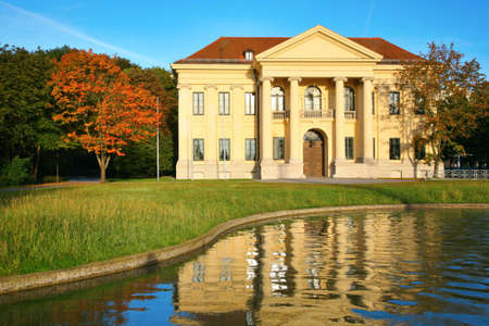 Mansion at reservoir. Munich. Germany. Stock Photo - 5106141