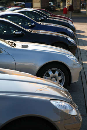 Cars on parking photo