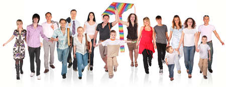 running people group on white Stock Photo - 5219590