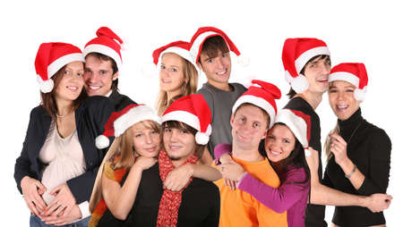 christmas many couples group Stock Photo - 5219571