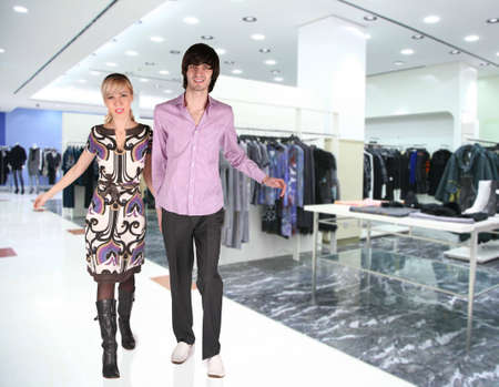 couple in Clothes boutique Stock Photo - 5147051