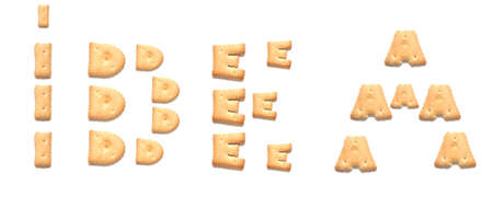 constitute: The word idea made of cookies