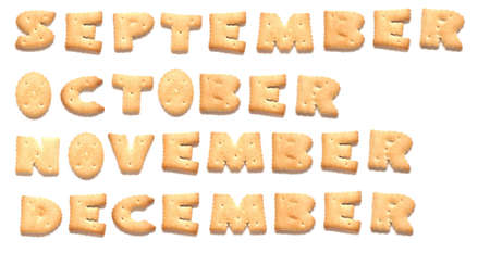 constitute: Months of year September, October, November, December  are made of cookies
