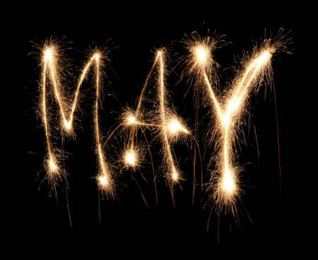 may: Month may sparkler