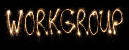 workgroup: Word workgroup written sparkler