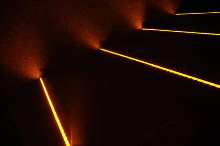 Luminous steps in cinema photo
