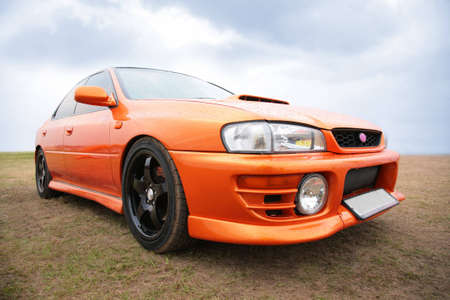 Orange sport car Stock Photo - 5290724