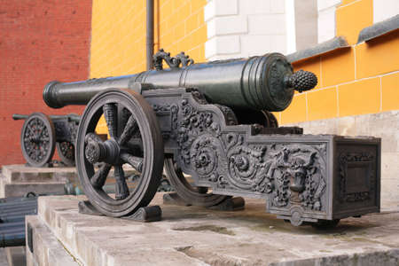 arsenal: Old cannons near Arsenal. Kremlin. Moscow. Russia