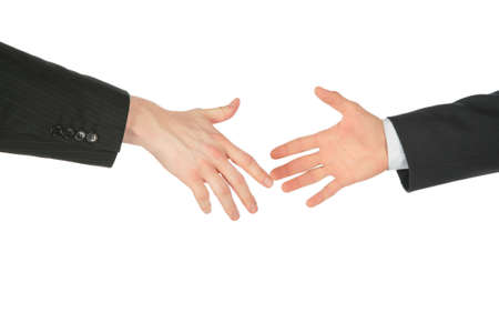 Two business hands Stock Photo - 5342135