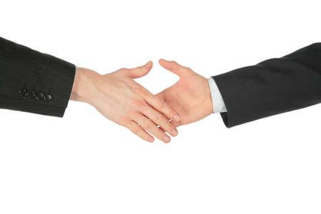 Handshaking hands Stock Photo - 5342149