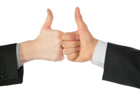 Two hands with ok gesture Stock Photo - 5360253
