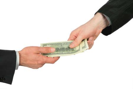 dare soldi: Da un lato i trasferimenti dollari di un altro