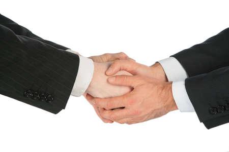 Four handshaking hands Stock Photo - 5342152