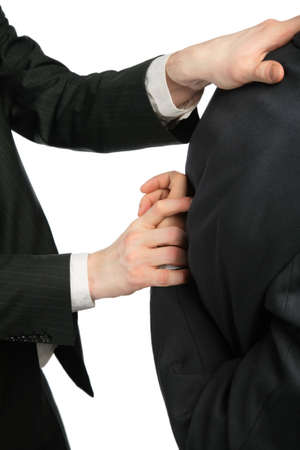 Man begins to break to other hand for  back Stock Photo - 5342179
