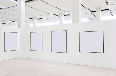 Frames on showroom wall photo