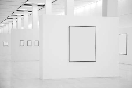 Exhibition hall with frames photo