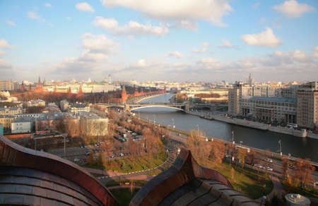 View on Moscow and river from top photo
