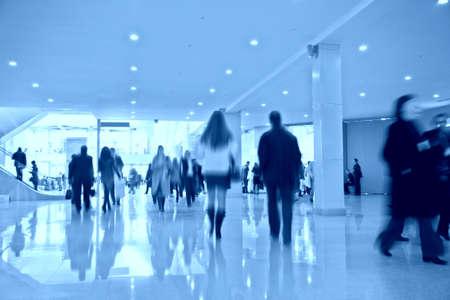 exhibition crowd: Persone nel centro business