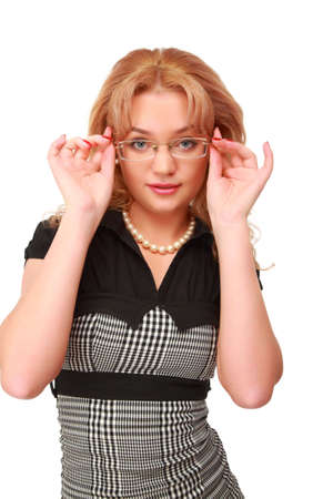Young blonde in glasses Stock Photo - 5368448