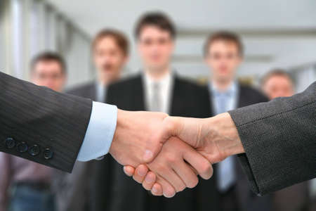 shaking hands and business team photo
