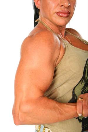 Bodybuilder woman photo