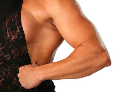 Hand of woman bodybuilder photo