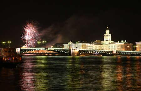 Firework in Saint Petersburg photo