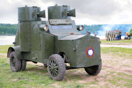 armored: Russian armored car in military show from first world war  Stock Photo