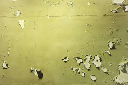 peeled off: Wall with peeled off green paint