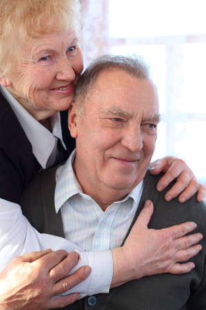 Portrait of elderly pair Stock Photo - 5361217
