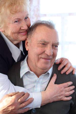 Portrait of elderly pair Stock Photo - 5361217