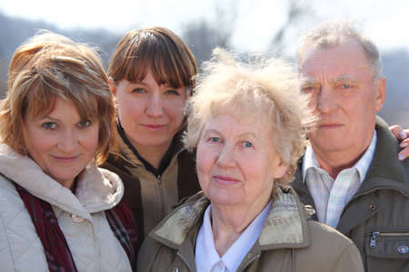 intergenerational: Three generations of one family