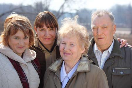 family one: Tre generazioni di una famiglia Archivio Fotografico
